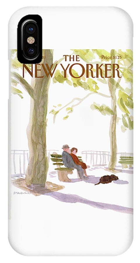 Nature IPhone X Case featuring the painting New Yorker March 23rd, 1981 by James Stevenson
