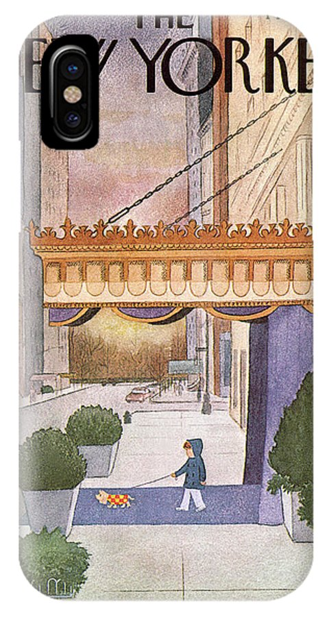 Upper East Side IPhone X Case featuring the painting New Yorker March 8th, 1976 by Charles E Martin