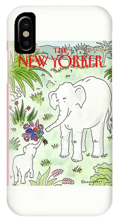 Animals IPhone X Case featuring the painting New Yorker May 11th, 1992 by Danny Shanahan