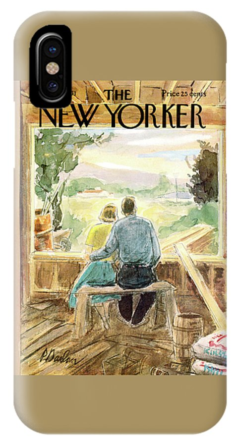 Perry Barlow Pba IPhone X Case featuring the painting New Yorker May 13th, 1961 by Perry Barlow