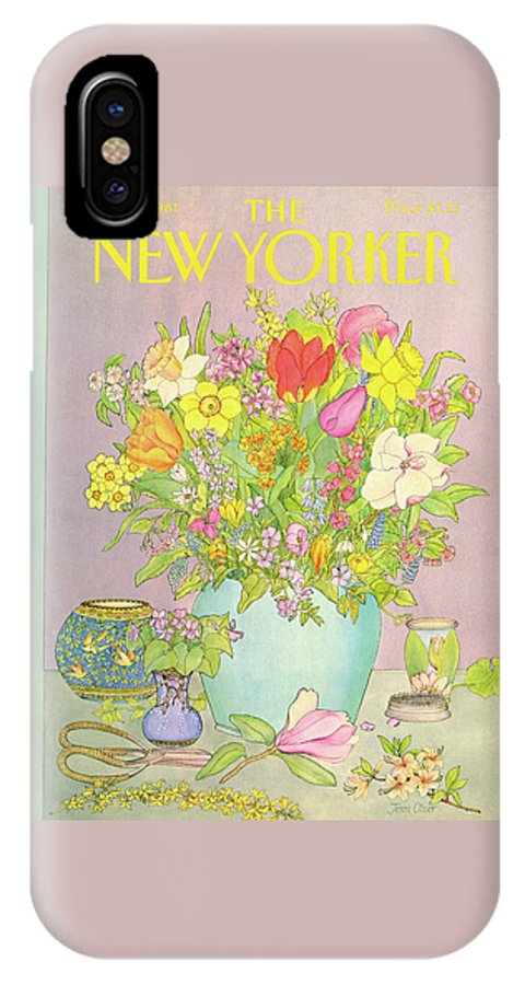 Household IPhone X Case featuring the painting New Yorker May 25th, 1981 by Jenni Oliver