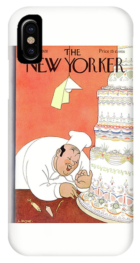 Food IPhone X Case featuring the painting New Yorker May 5th, 1928 by Leonard Dove
