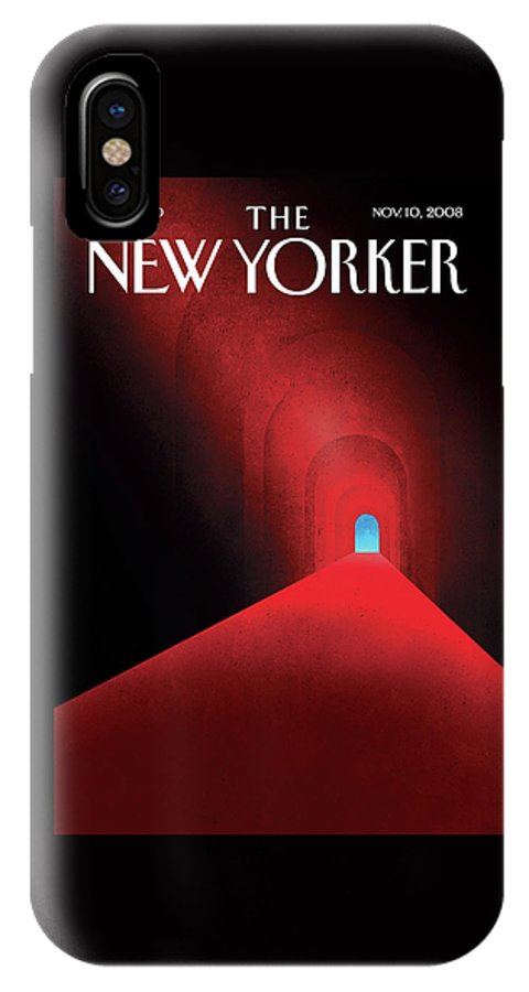 Tunnel IPhone X Case featuring the painting New Yorker November 10th, 2008 by Brian Stauffer