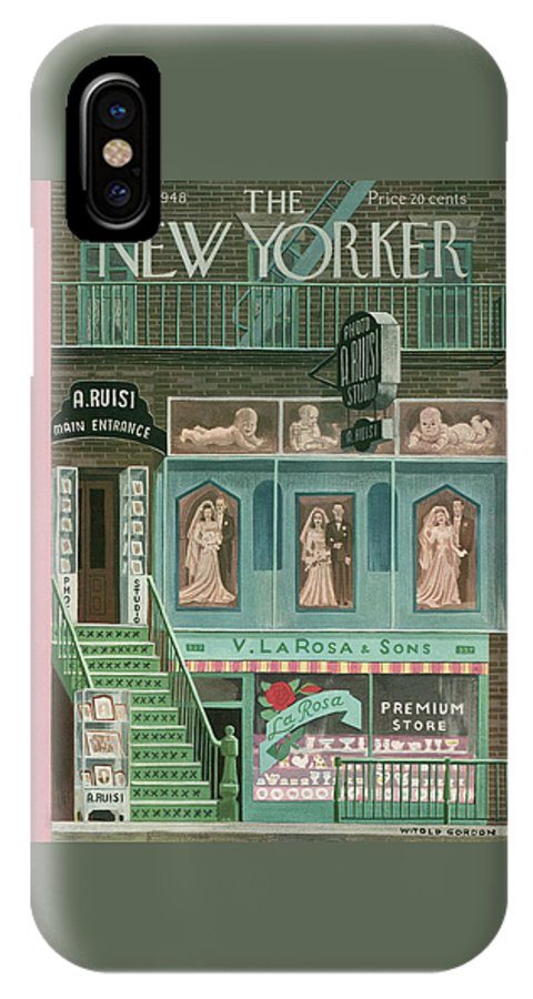 Store IPhone X Case featuring the painting New Yorker November 13th, 1948 by Witold Gordon