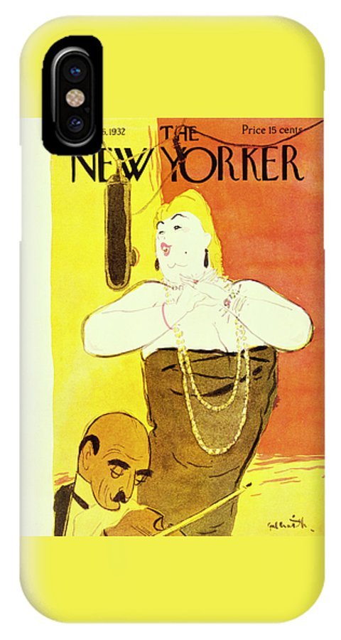 Illustration IPhone X Case featuring the painting New Yorker November 26 1932 by William Crawford Galbraith