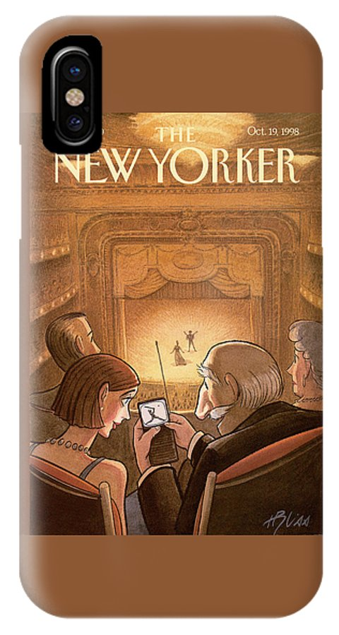 Doubleheader IPhone X Case featuring the painting New Yorker October 19th, 1998 by Harry Bliss