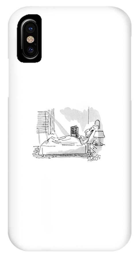 Psychology IPhone X Case featuring the drawing New Yorker September 1st, 1980 by Sam Gross