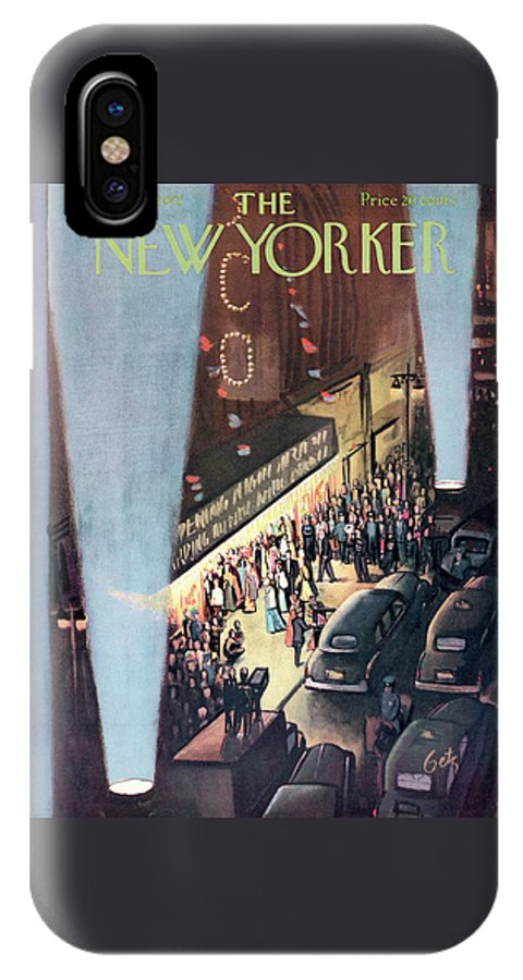 Urban IPhone X Case featuring the painting New Yorker September 26th, 1953 by Arthur Getz
