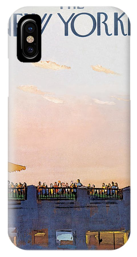 Arthur Getz Agt IPhone X Case featuring the painting New Yorker September 5th, 1970 by Arthur Getz