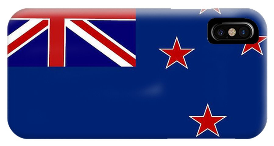 New Zealand IPhone X Case featuring the digital art New Zealand Flag by Frederick Holiday