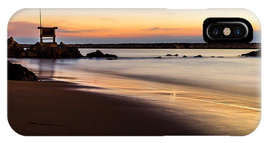 Santa Monica IPhone X Case featuring the photograph Newport 16 by Alan Nix