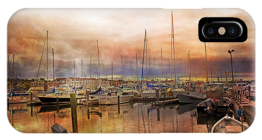Rhode IPhone X Case featuring the photograph Newport Rhode Island Harbor I by Betsy Knapp