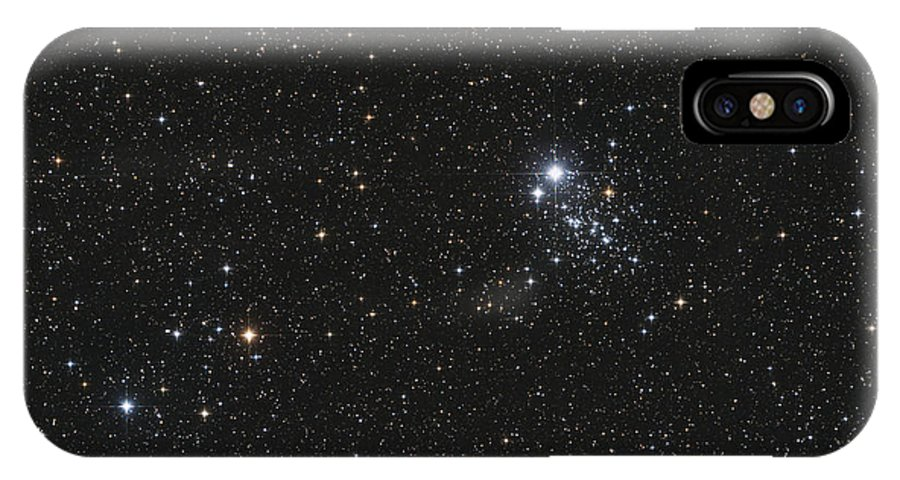 Horizontal IPhone X Case featuring the photograph Ngc 457, The Owl Cluster by Lorand Fenyes