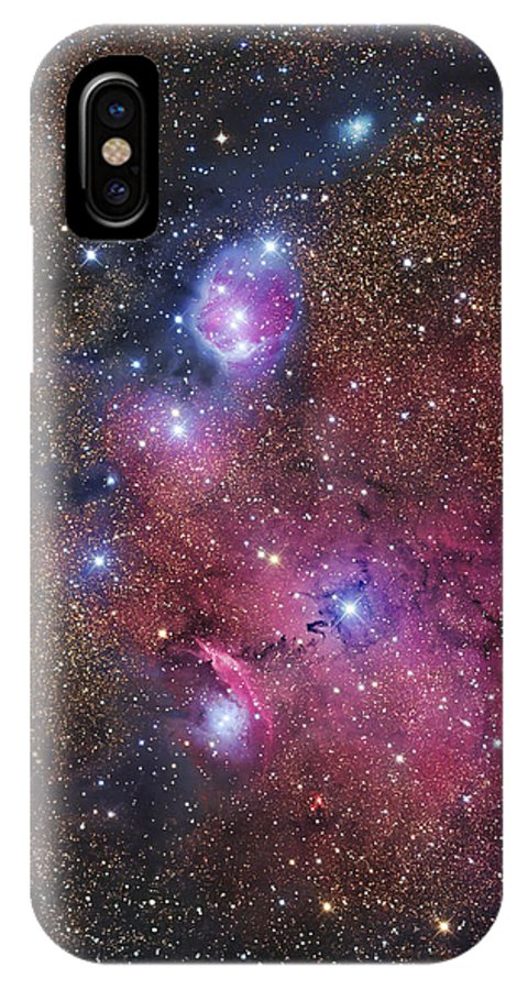Astrophotography IPhone X Case featuring the photograph Ngc 6559 Emission And Reflection by Robert Gendler