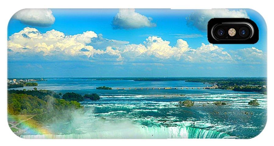 Niagara Falls Canada IPhone X / XS Case featuring the photograph Niagara Falls Canada by Jeetindra Harripershad