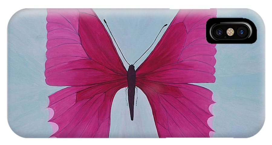 Butterfly IPhone X Case featuring the painting Nicole's Butterfly by Richard Dotson