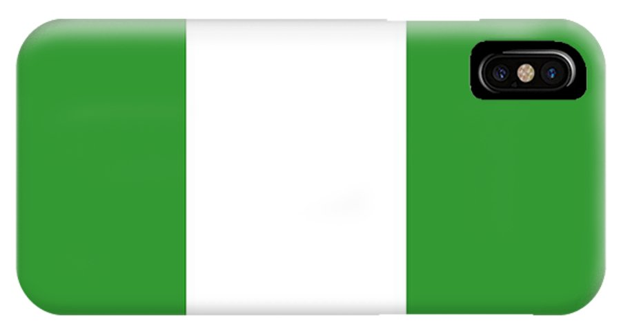 Nigeria IPhone X Case featuring the digital art Nigeria Flag by Frederick Holiday