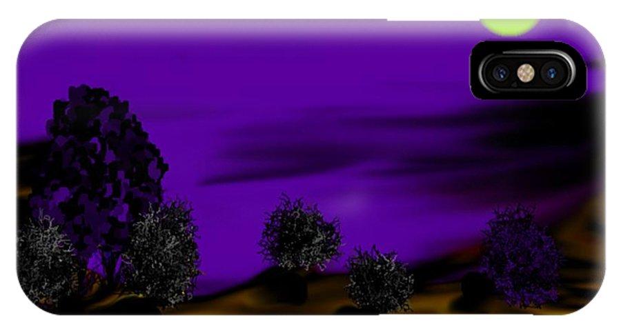 Night IPhone X Case featuring the digital art Night desert by Dr Loifer Vladimir