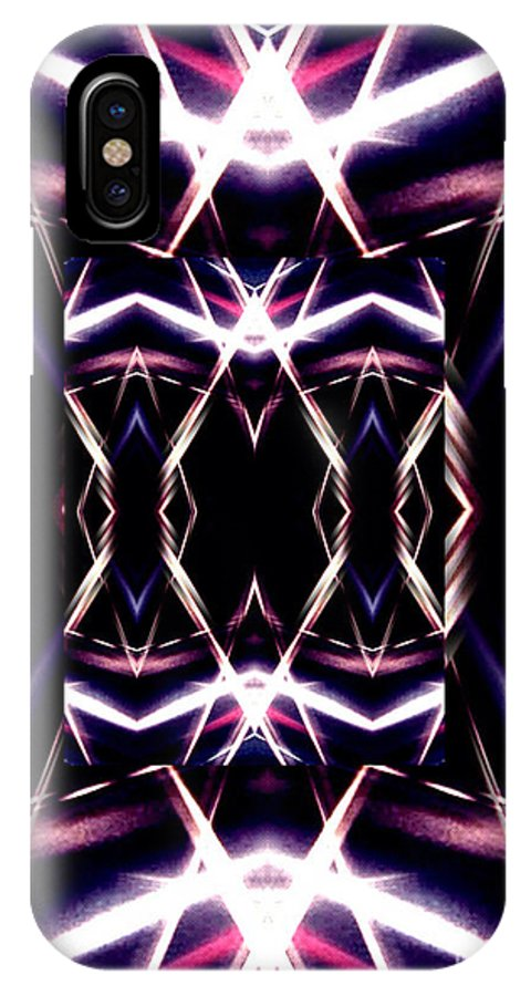 Digital Art Abstract IPhone X Case featuring the digital art Night Life by Gayle Price Thomas