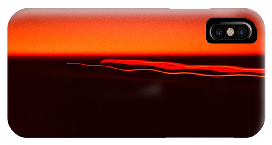 Night Lights IPhone X Case featuring the photograph Night Lights Four Red Lights 2 by David Hohmann