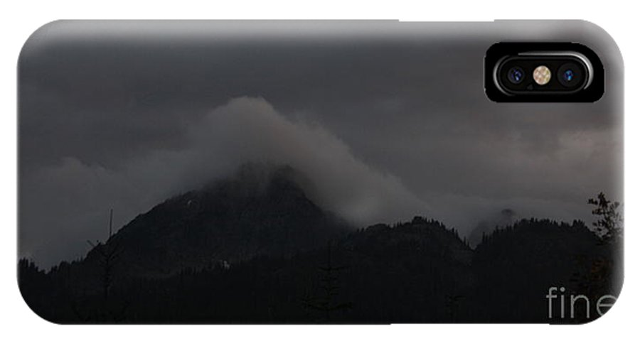 Mountain Peak. Clouds On Mountain IPhone X Case featuring the photograph Night On Cougar Mountain by Amanda Holmes Tzafrir