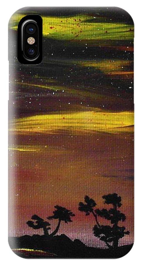 Calm IPhone X Case featuring the painting Night Scene by Anastasiya Malakhova