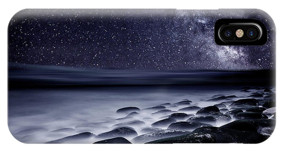 Rocks IPhone X Case featuring the photograph Night Shadows by Jorge Maia