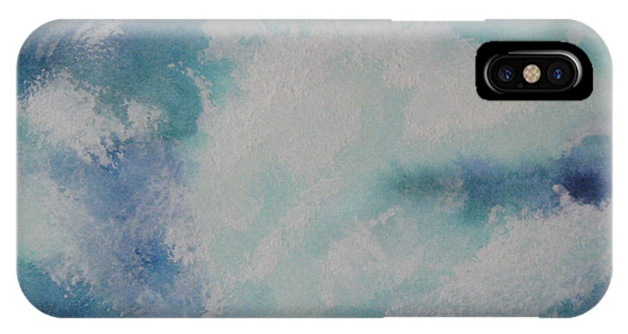 Seascape IPhone X Case featuring the painting Night Splash by Parrish Hirasaki