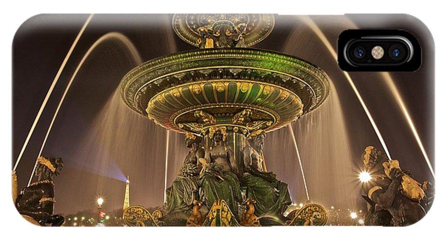 Paris IPhone X Case featuring the photograph Night Time Paris by Craig Tissot