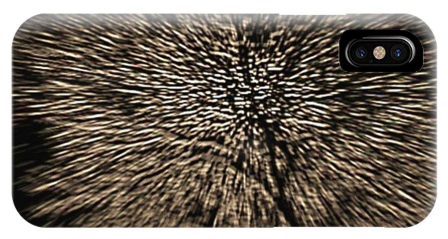 Landscape IPhone X Case featuring the digital art Night winter tree by Dr Loifer Vladimir