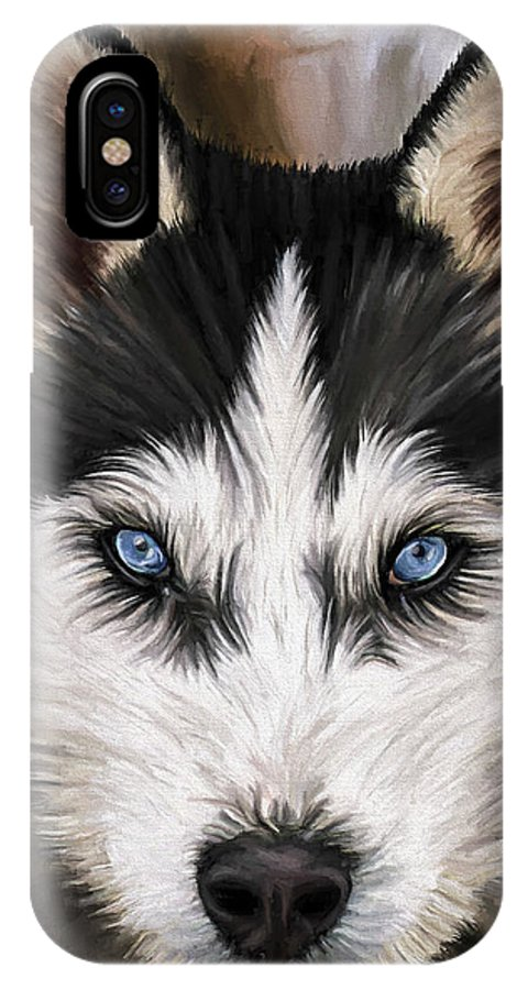 Dog Art IPhone Case featuring the painting Nikki by David Wagner