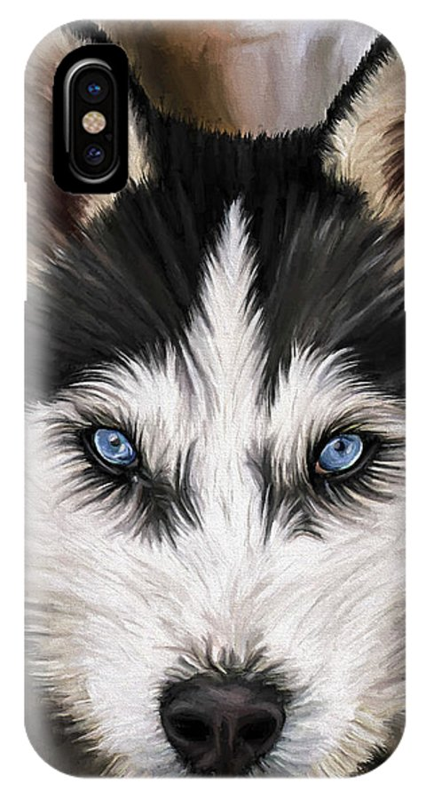 Dog Art IPhone X Case featuring the painting Nikki by David Wagner