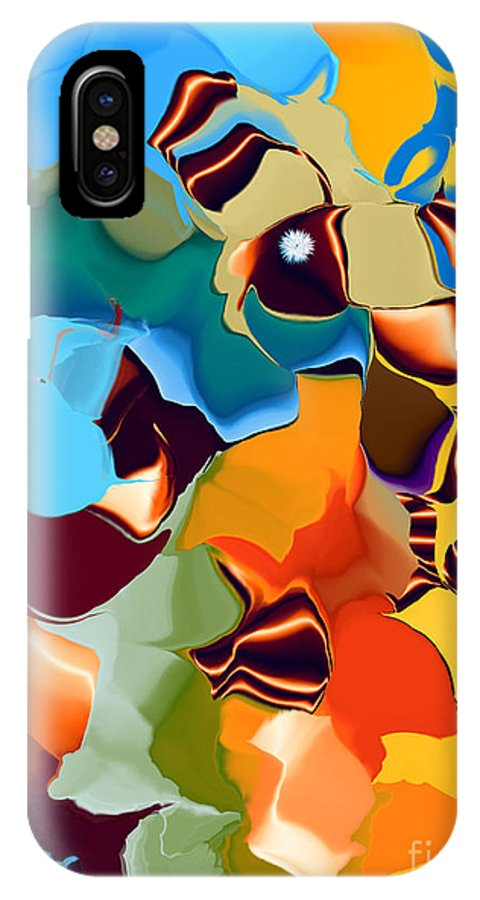 IPhone X Case featuring the digital art No. 223 by John Grieder