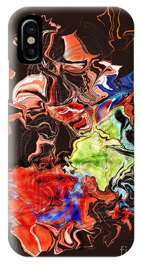 IPhone X Case featuring the digital art No. 224 by John Grieder