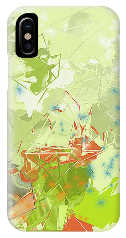 IPhone X Case featuring the digital art No. 225 by John Grieder