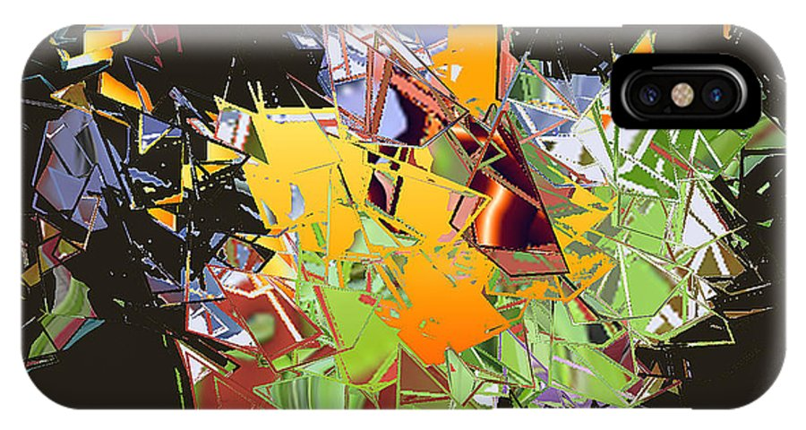 IPhone X Case featuring the digital art No. 237 by John Grieder
