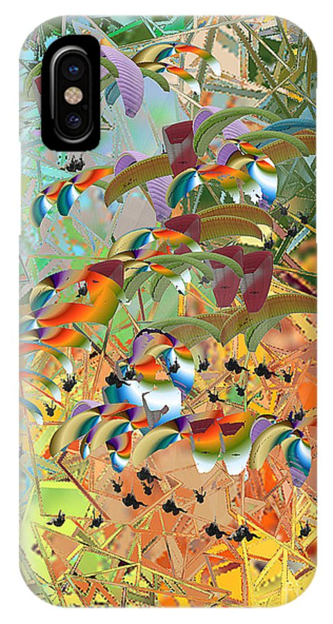IPhone X Case featuring the digital art No. 239 by John Grieder