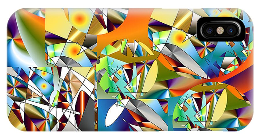 IPhone X Case featuring the digital art No. 725 by John Grieder