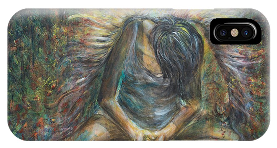 Angel IPhone X / XS Case featuring the painting No Paradise by Nik Helbig