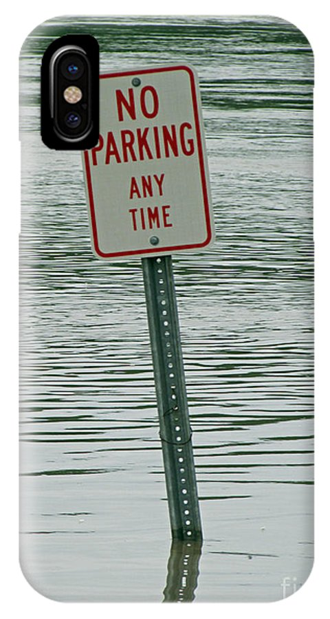 River IPhone X Case featuring the photograph No Parking by Jamie Smith