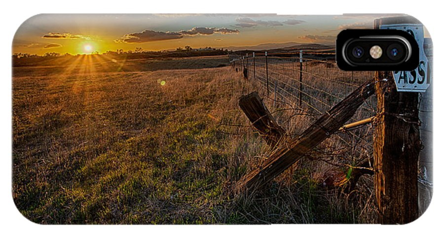 Sunset IPhone X Case featuring the photograph No Pass II by Peter Tellone