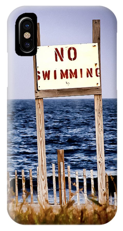 No Swimming IPhone X Case featuring the photograph No Swimming by Colleen Kammerer