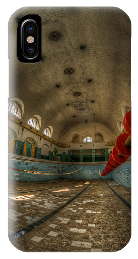Abandoned IPhone X / XS Case featuring the digital art No Swimming by Nathan Wright