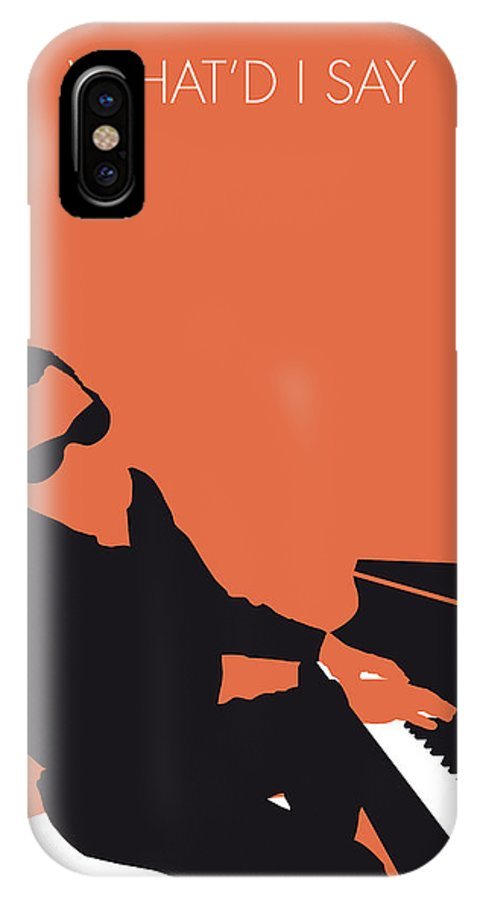 Ray IPhone X Case featuring the digital art No003 My Ray Charles Minimal Music Poster by Chungkong Art