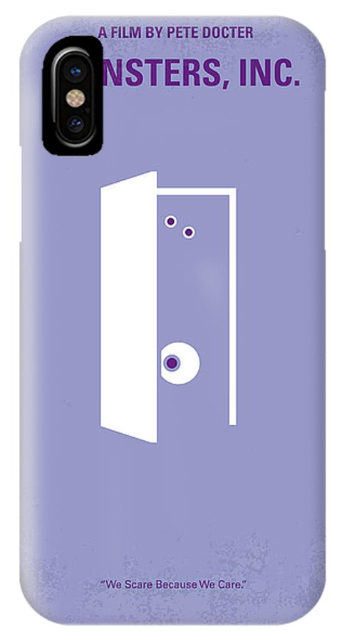 No161 My Monster Inc Minimal Movie Poster Iphone X Case