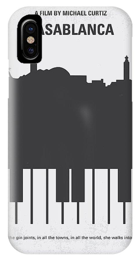 Casablanca IPhone X Case featuring the digital art No192 My Casablanca Minimal Movie Poster by Chungkong Art