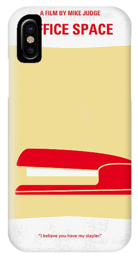 Office IPhone X Case featuring the digital art No255 My Office Space Minimal Movie Poster by Chungkong Art