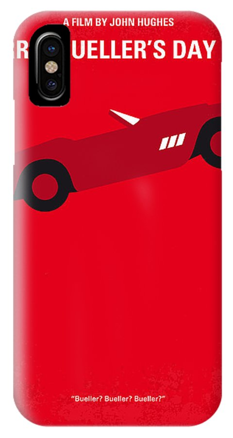 Ferris IPhone X Case featuring the digital art No292 My Ferris Bueller's Day Off Minimal Movie Poster by Chungkong Art