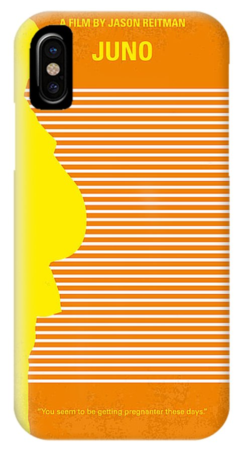 Juno IPhone X Case featuring the digital art No326 My Juno Minimal Movie Poster by Chungkong Art