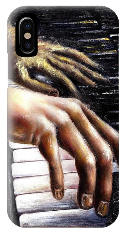Piano IPhone X Case featuring the painting Nocturne by Hiroko Sakai
